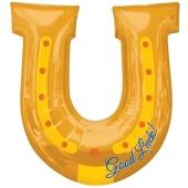 Luftballon, Shape, Hufeisen Good Luck inklusive Helium-Ballongas