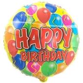 Geburtstags-Luftballon Balloons Happy Birthday, ohne Helium-Ballongas