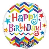 Geburtstags-Luftballon Birthday Star, ohne Helium-Ballongas