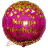 Happy Birthday Punkte, Luftballon zum Geburtstag mit Helium