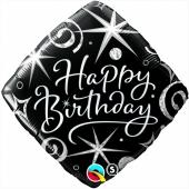 Geburtstags-Luftballon Birthday Elegant, ohne Helium-Ballongas