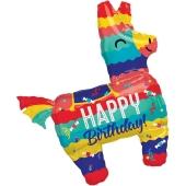 Happy Birthday Burro Pinata Luftballon zum Geburtstag mit Helium Ballongas