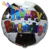 Geburtstags-Luftballon Happy Birthday Fußball ohne Helium