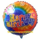 Groovy Happy Birthday, Luftballon zum Geburtstag mit Helium