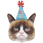 Grumpy Cat, Luftballon zum Geburtstag mit Helium Ballongas