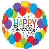 Ballon Bash Happy Birthday, Luftballon zum Geburtstag mit Helium