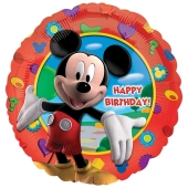 Micky Maus Geburtstags-Luftballon aus Folie mit Helium