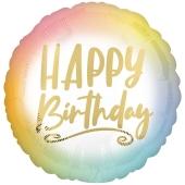 Happy Birthday Ombre & Gold, Luftballon zum Geburtstag mit Helium