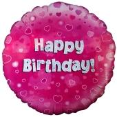 Happy Birthday Pink, Luftballon zum Geburtstag mit Helium