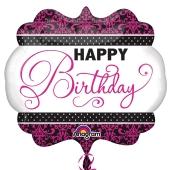 Luftballon, Happy Birthday zum Geburtstag, ohne Helium