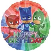 Pyjamahelden Geburtstags-Luftballon aus Folie mit Helium
