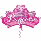 Happy Birthday Princess Luftballon zum Geburtstag mit Helium Ballongas