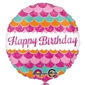 Happy Birthday, ´Rosafarbener Luftballon zum Geburtstag mit Helium