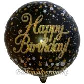 Geburtstags-Luftballon Sparkling Fizz Birthday Gold, ohne Helium-Ballongas