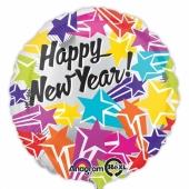 Silvester Luftballon, Silvester-Partydekoration, Folienballon mit Ballongas, Bright Stars