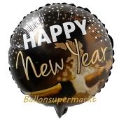 Silvester Luftballon, Silvester-Partydekoration, Folienballon mit Ballongas, Champagner