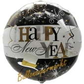 Silvester Luftballon, Silvester-Partydekoration, Folienballon ohne Ballongas, Happy New Year Elegant