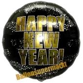 Silvester Luftballon, Silvester-Partydekoration, Folienballon ohne Ballongas, Happy New Year Stars