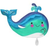 Happy Wal, Luftballon aus Folie mit Helium