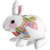 Luftballon Osterhase, Happy Easter, inklusive Helium