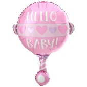 Baby Girl Rassel, Luftballon aus Folie inklusive Helium
