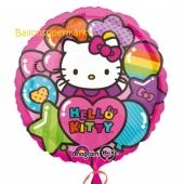 Folienballon Hello Kittty Regenbogen, ohne Helium-Ballongas