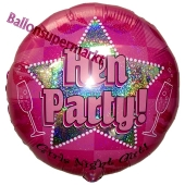 Hen Party, Luftballon aus Folie mit Ballongas Helium zu Hen Night, Hen Party und JGA