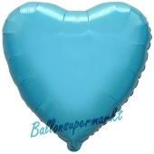 Luftballon aus Folie in Herzform, aquamarin