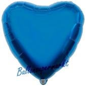 Herzluftballon Blau, Ballon in Herzform mit Ballongas Helium