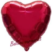 Herzluftballon Burgund, Ballon in Herzform mit Ballongas Helium