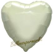 Luftballon aus Folie in Herzform, elfenbein