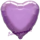Herzluftballon Flieder, Ballon in Herzform mit Ballongas Helium