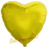 Herzluftballon aus Folie, Gelb, mit Ballongas Helium
