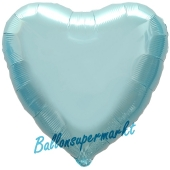 Herzluftballon Hellblau, Ballon in Herzform mit Ballongas Helium