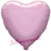 Herzluftballon Hellrosa, Ballon in Herzform mit Ballongas Helium
