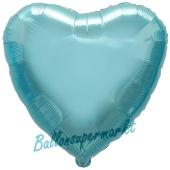 Herzluftballon Himmelblau, Ballon in Herzform mit Ballongas Helium