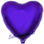 Luftballon aus Folie in Herzform, lila
