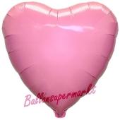 Herzluftballon Rosa, Ballon in Herzform mit Ballongas Helium