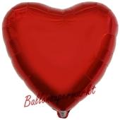 Herzluftballon aus Folie, Rot, inklusive Helium