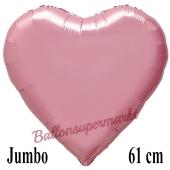 Großer Herzluftballon Rosa, Ballon in Herzform mit Ballongas Helium