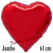 Großer Luftballon aus Folie in Herzform, rot