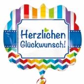 Luftballon Herzlichen Glückwunsch, Shape, inklusive Helium
