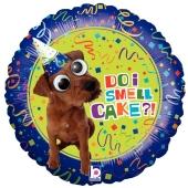 Hund mit Wackelaugen, Do I smell Cake, Luftballon zum Geburtstag mit Helium Ballongas