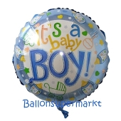 It's a Baby Boy Luftballon aus Folie ohne Helium