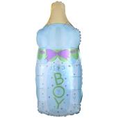 It's a Boy Babyflasche, Luftballon aus Folie inklusive Helium