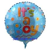 It's a Boy Babyflaschen Luftballon aus Folie mit Helium