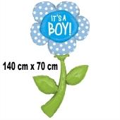 Luftballon zu Geburt und Taufe eines Jungen, Blume It's a Boy, heliumgefüllt