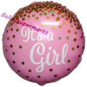 It's a Girl Glitter, holografischer Luftballon aus Folie mit Helium