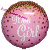 It's a Girl Glitter, holografischer Luftballon aus Folie
