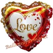 Jumbo-Luftballon aus Folie, Love Glamour ohne Helium